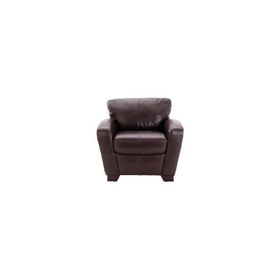 Maine leather armchair, chocolate