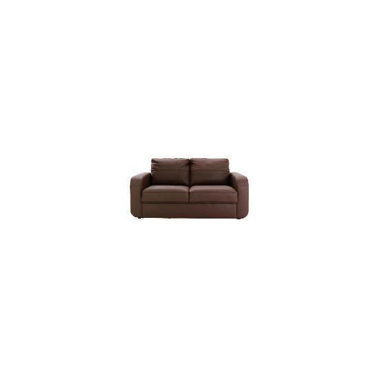 Lyon leather sofa regular, chocolate