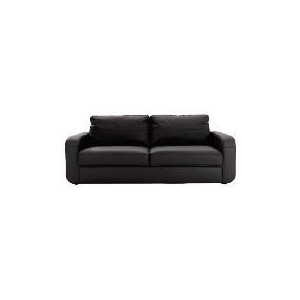 Photo of Lyon Leather Sofa Large, Black Furniture