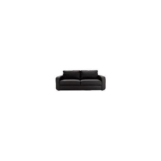 Lyon leather sofa large, black