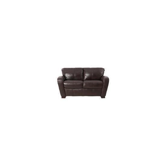 Maine leather sofa regular, chocolate
