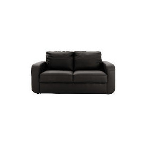 Photo of Lyon Leather Sofa Regular, Black Furniture
