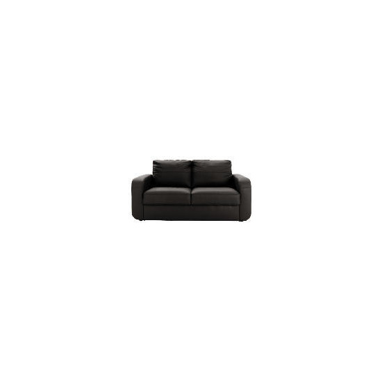 Lyon leather sofa regular, black