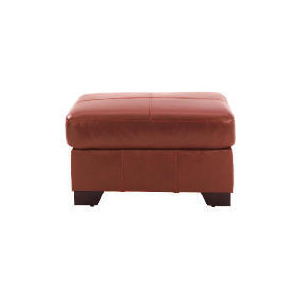 Photo of Maine Leather Footstool, Cognac Furniture
