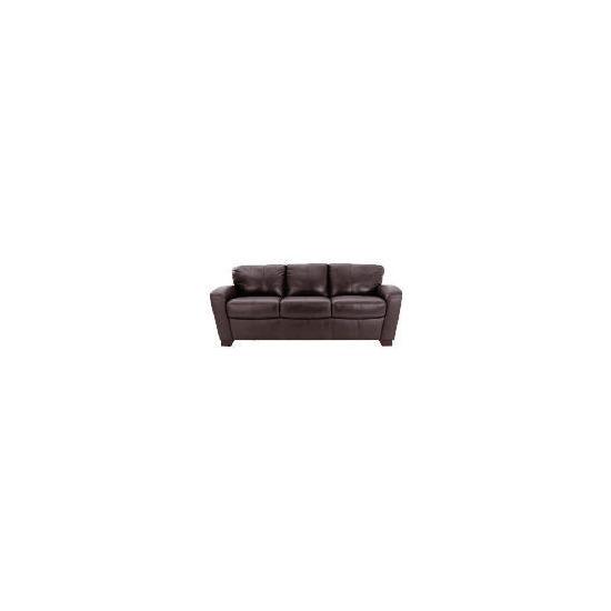 Maine leather sofa large, chocolate