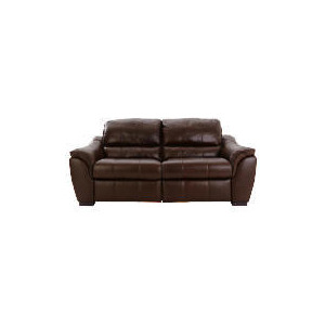 Photo of Montana Leather Recliner Sofa Large, Chocolate Furniture