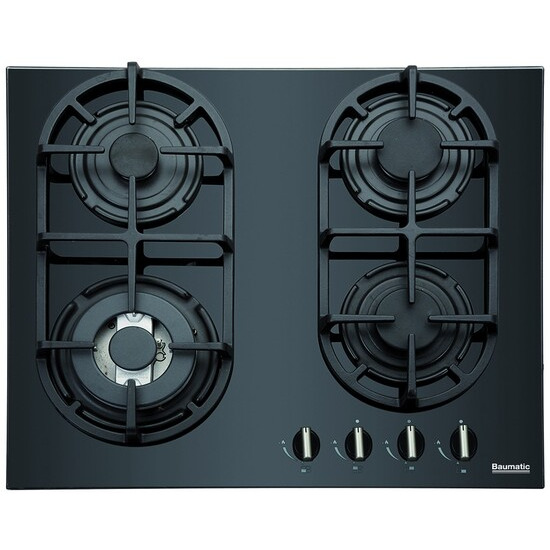 Baumatic BGG64 Gas Hob - Baumatic Black Glass