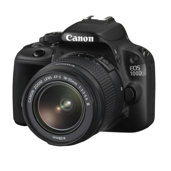Canon EOS 100D Digital SLR Camera Black + EF-S 18-55MM IS STM