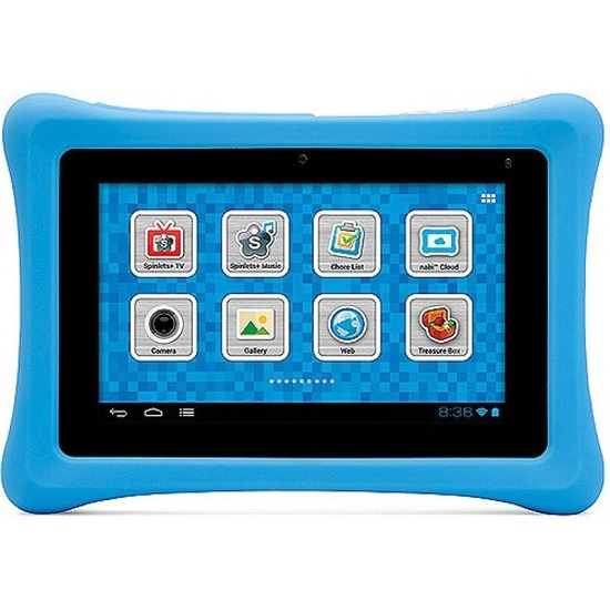 "Nabi 2 Tablet PC, NVIDIA Tegra 3 A9 QC 1.3GHz, 1GB RAM, 8GB Flash, 7"" Touch, Camera, Bluetooth, Android 4.0 - Blue"