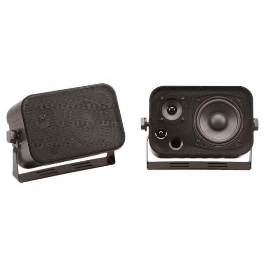BLACK Compact 100W 2-way Speakers (Pair)