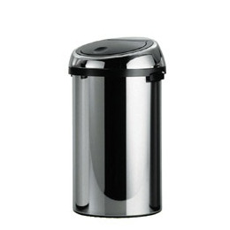 Brabantia 50 Litre Touch Bin in Brilliant Steel