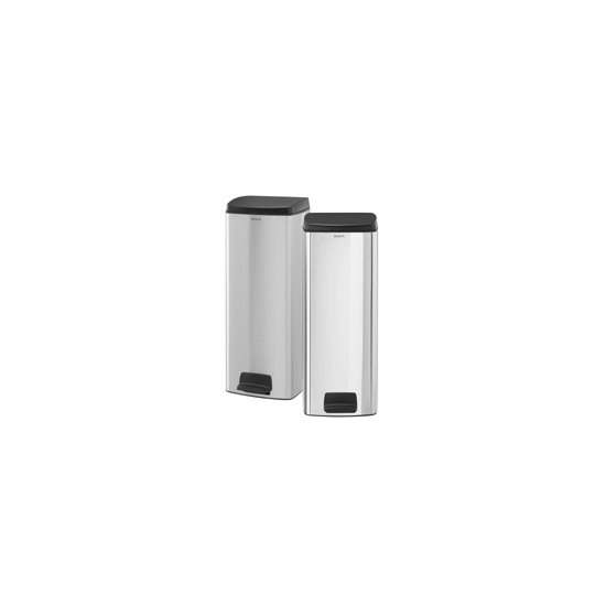 Brabantia 25 Litre Rectangular Pedal Bin in Brilliant Steel