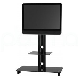 Photo of Optimum Elmob CY1144 Black With Black Glass TV Stands and Mount