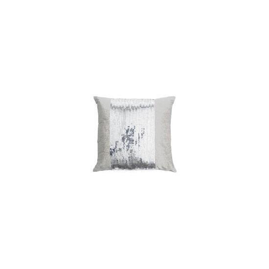 Tesco Sequin Cushion Silver 40x40cm