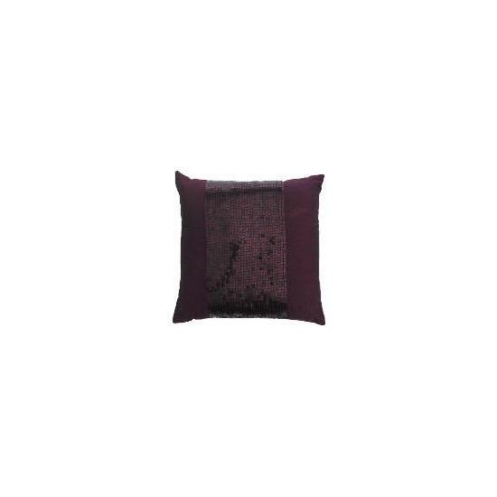 Tesco Sequin Cushion Plum 40x40cm
