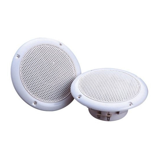 White High Quality 80W Moisture Resistant Speakers For Use In Shower Rooms, Bathrooms etc. Sold In Pairs