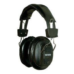 Black Switched Stereo/Mono Headphones with Volume Controls, Adjustable Headband 3,5mm jack plug and