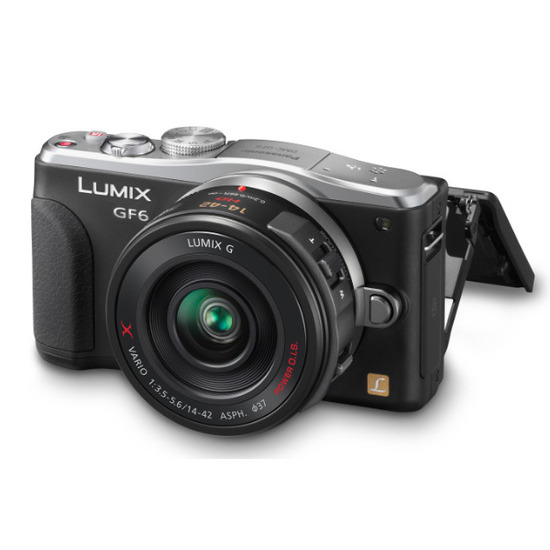 Panasonic LUMIX DMC-GF6 Digital Camera with 14-42mm and 45-150mm Lenses