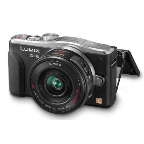 Panasonic LUMIX DMC-GF6 Digital Camera with 14-42mm and 45-150mm Lenses