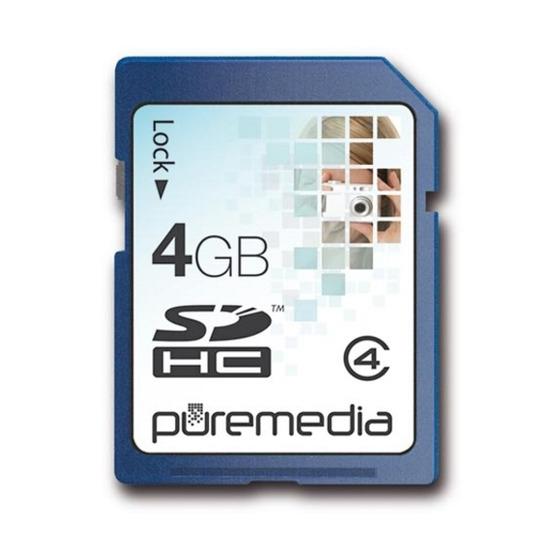 PURE MEDIA 4GB SDHC MEMORY