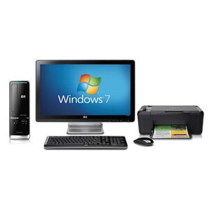 "Photo of  HP Pavilion Slimline S5206UK-P With 20"" HP Monitor and HP All-In-One Printer Desktop Computer"