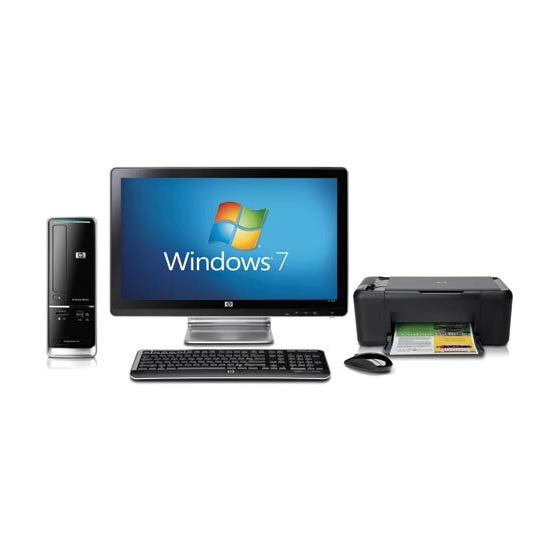 """HP Pavilion Slimline s5206uk-p with 20"""" HP monitor and HP All-in-one Printer"""