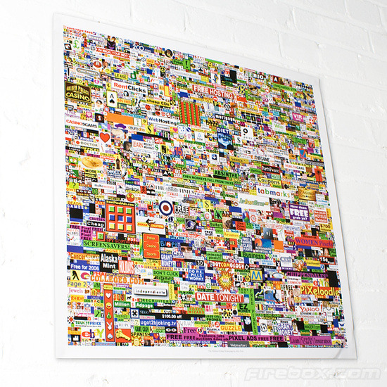 The Million Dollar Homepage Poster
