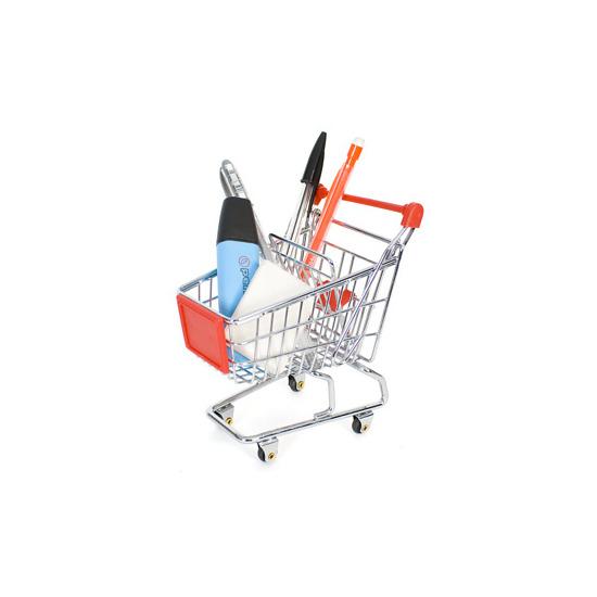 Mini Shopping Trolley Desk Tidy