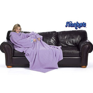 Photo of Slanket Purple Cushions and Throw