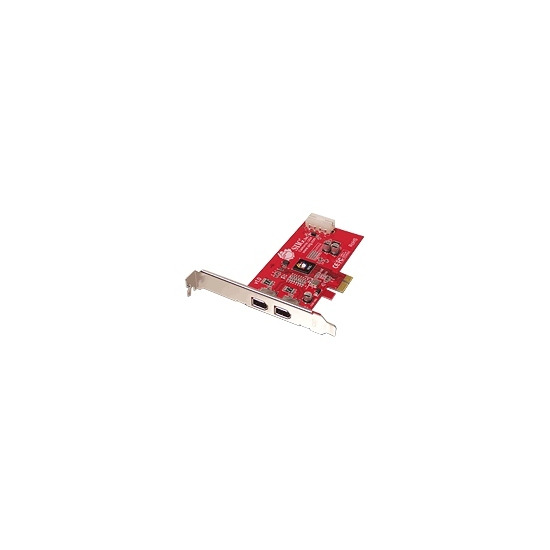 SIIG FireWire 2-Port PCIe - FireWire adapter - PCI Express x1 low profile - Firewire - 2 ports