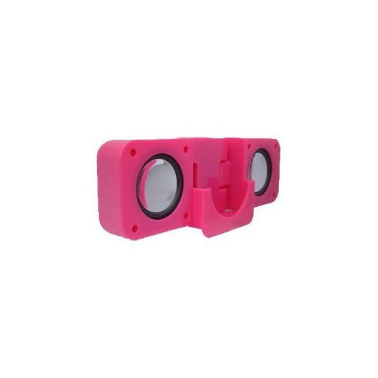 Greymobiles iPod Hot Pink Stereo Portable Speakers