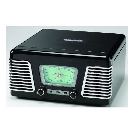 RX-1 BLACK MUSIC CENTRE WITH 3-SPEED TURNTABLE RECORD DECK + RADIO + MP3 PLAYBACK VIA USB PORT