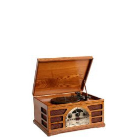 Crosley Wooden Retro Turntable 3 Speed Record Player AM/FM Radio CD and Cassette Player