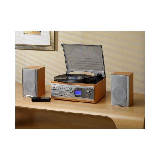 TRANSFER VINYL TO USB CONVERT 4-IN-1 MUSIC CENTRE LIGHT