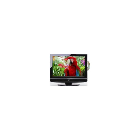 "Mr LCD 19"" HD Piano Black LCD with Multi Region DVD and Freeview"