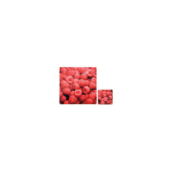 Tesco Rasberry Square Placemats & Coasters 4 Pack