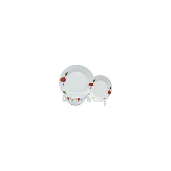 Tesco Art Deco Rose 12 piece Dinnerset