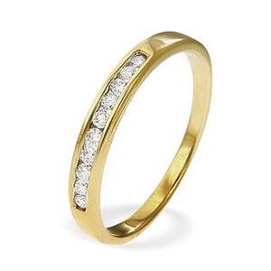 Photo of 9K Gold Brilliant Diamond Ladies Half Eternity Ring Jewellery Woman