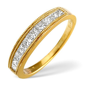Photo of 18K Gold Channel Set Brilliant Half Eternity With 18K Gold Design H/Si Anchor Certified Jewellery Woman