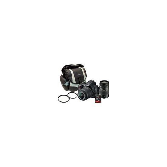 Nikon D5000 18-55mm and 70-300mm lenses