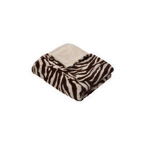 Photo of Tesco Faux Fur Throw Zebra Cushions and Throw