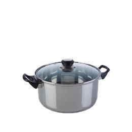 Swan Stainless Steel Casserole with Glass Lid 24cm Reviews