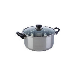 Photo of Swan Stainless Steel Casserole With Glass Lid 24CM Cookware