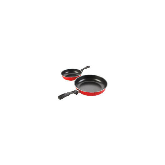Swan Frypan Set 20cm/24cm Red