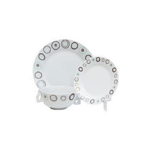 Photo of Tesco Neutral Circles 12PCE Dinnerset Kitchen Accessory