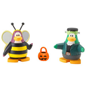 Photo of Disney Club Penguin - 5CM Mix 'N' Match Figure Series 4 Bumble Bee and Frankenpenguin Toy