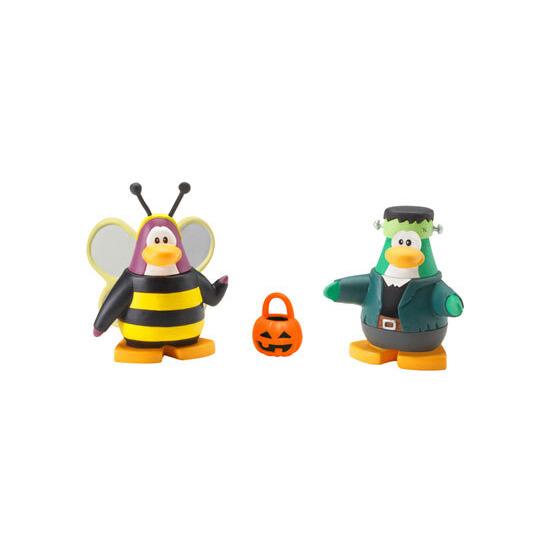 Disney Club Penguin - 5cm Mix 'n' Match Figure Series 4 Bumble Bee and Frankenpenguin