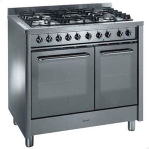 Photo of Indesit KP900GX Dual Fuel Range Cooker, Stainless Steel Cooker
