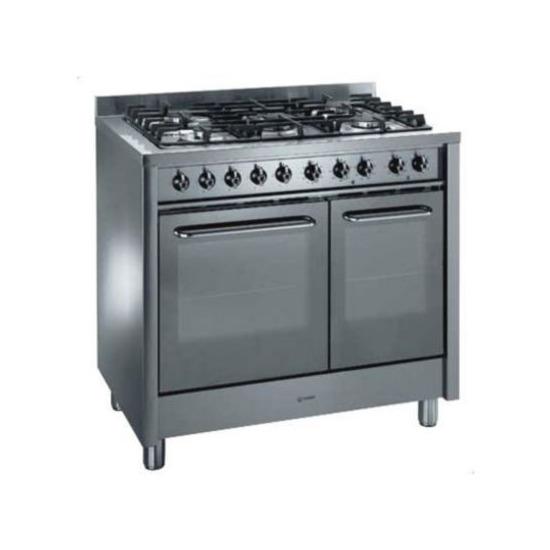 Indesit KP900GX Dual Fuel Range Cooker, Stainless Steel