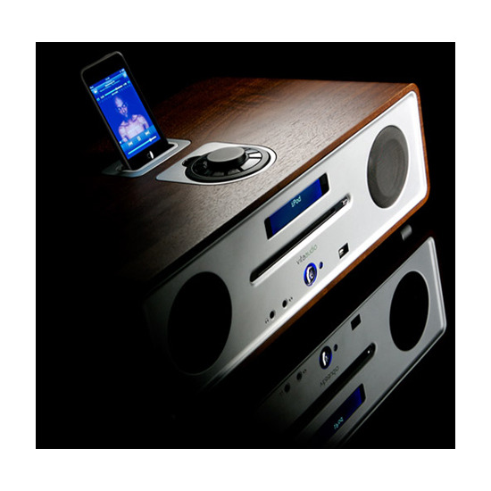 Vita R4 DAB Audio iPod Integrated Music System, Midnight Black Lacquer